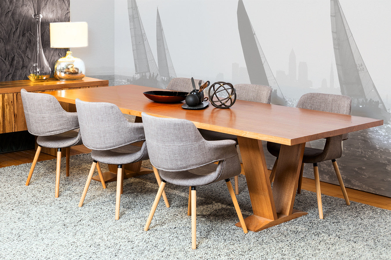Bespoke dining table design -  Lexcen Solid Timber Wa Blackbutt Dining Table