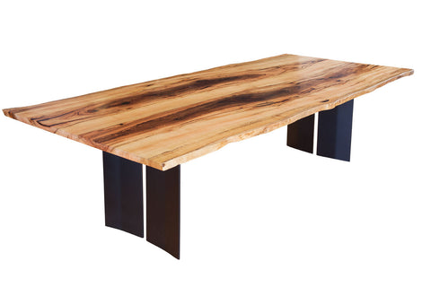 Blackwood Natural Edge Marri Dining Table with Steel Refectory Base, Nedlands, Perth, WA