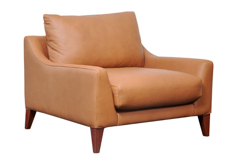 Oscar Comfortable three seater micro fabric over stuffed lounge chair, Perth WA