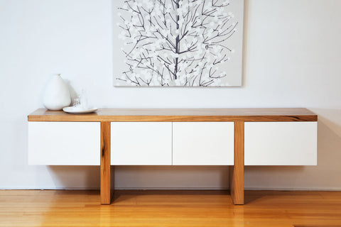 "The ""Edge"" Contemporary Solid Marri Dining Buffet furniture piece"