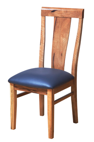 Manta Marri Dining Chair, leather upholstery