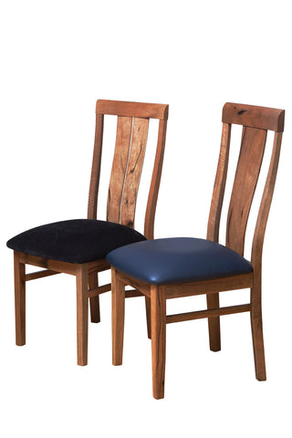 Manta Dining Chair In Jarrah Or Marri, leather upholstered seats