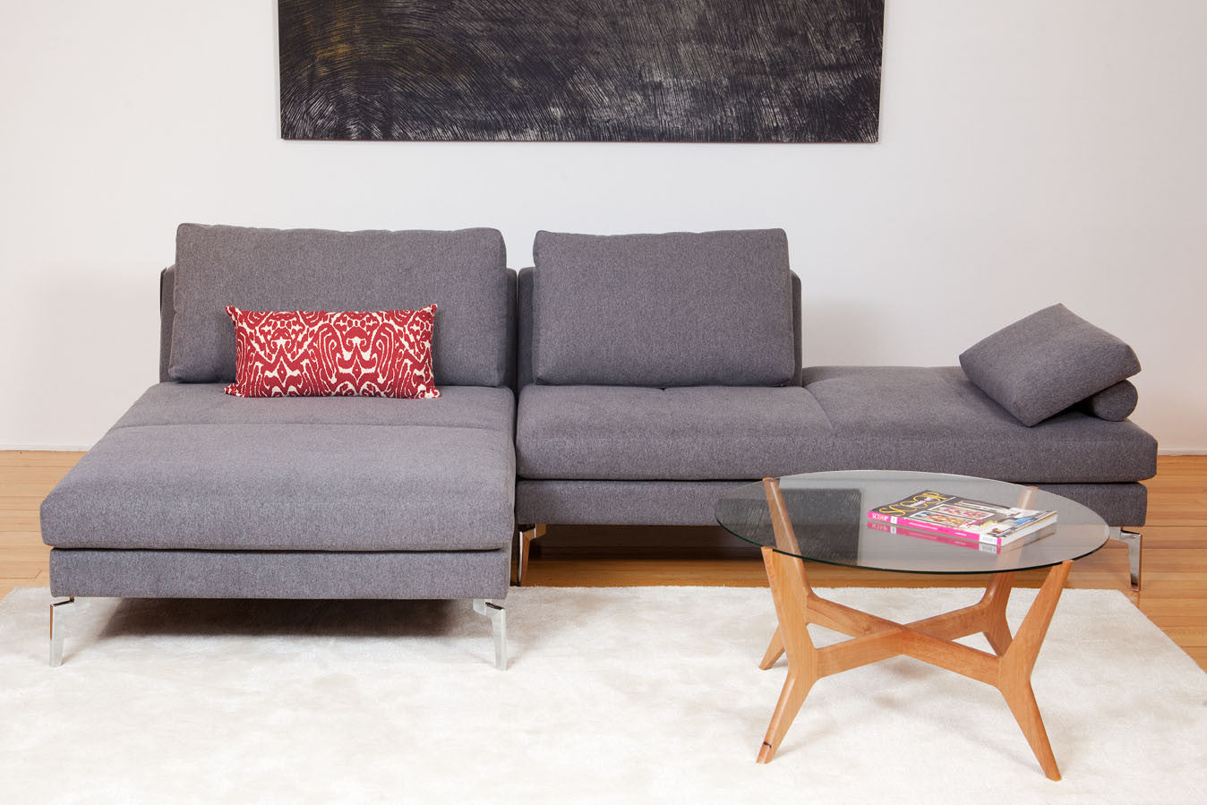 Brighton Chaise Modular Fabric or Leather Sofa Couch Bespoke