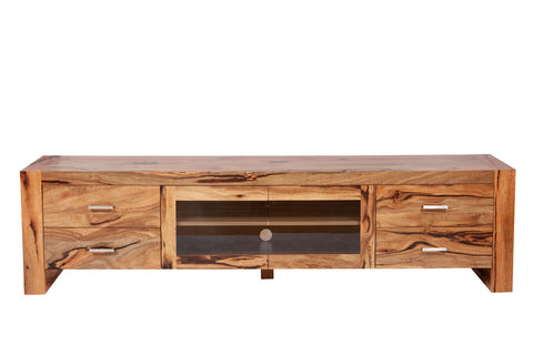 Riverside Solid Marri Timber TV Lowline Entertainment Unit