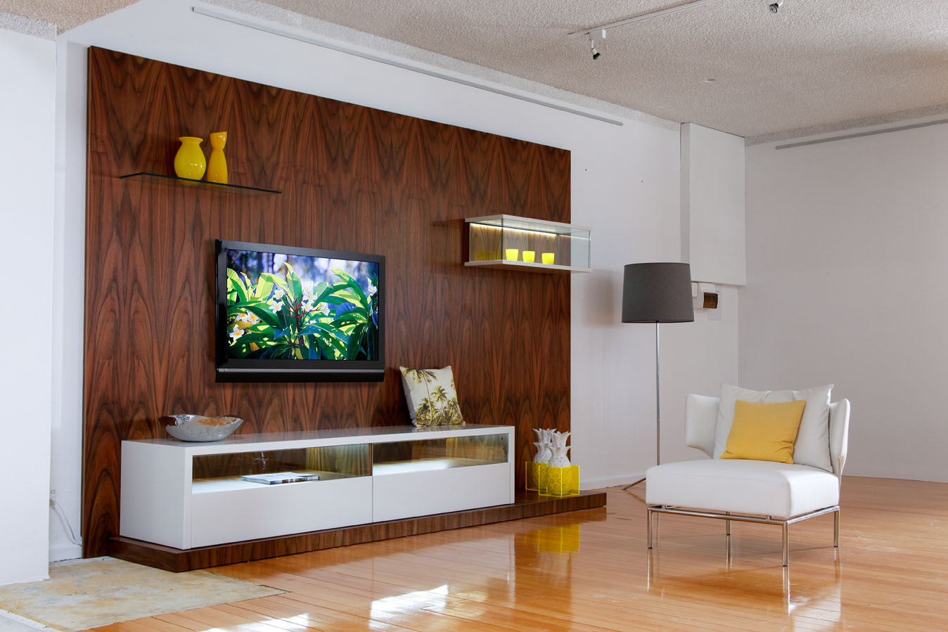 Queensland Walnut Fully Customisable Wall Unit | Bespoke Furniture ...