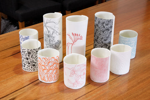 Samantha Robinson Hand Made Ceramic bowls, vases and vessels