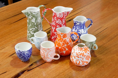 Samantha Robinson Hand Made Ceramic cups and jugs