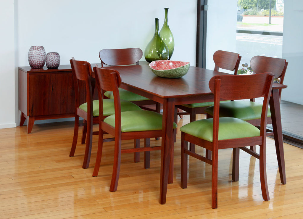 Oslo Jarrah Dining Suite with dining chairs