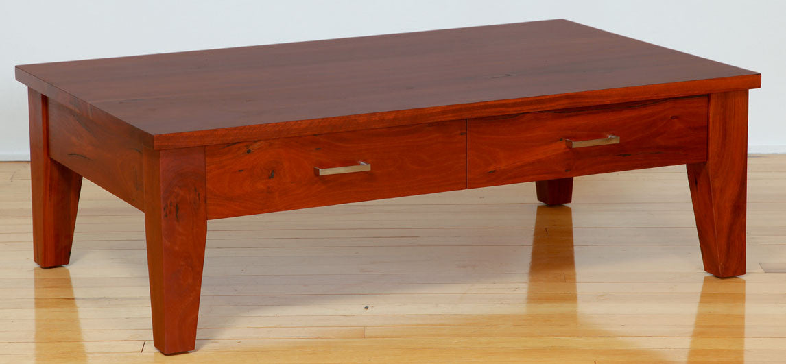 Classic 2 Drawer Solid Jarrah Timber Coffee Table Nedlands Perth Wa