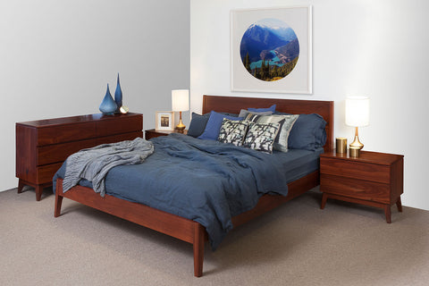 Oslo Jarrah Kingsize Bed