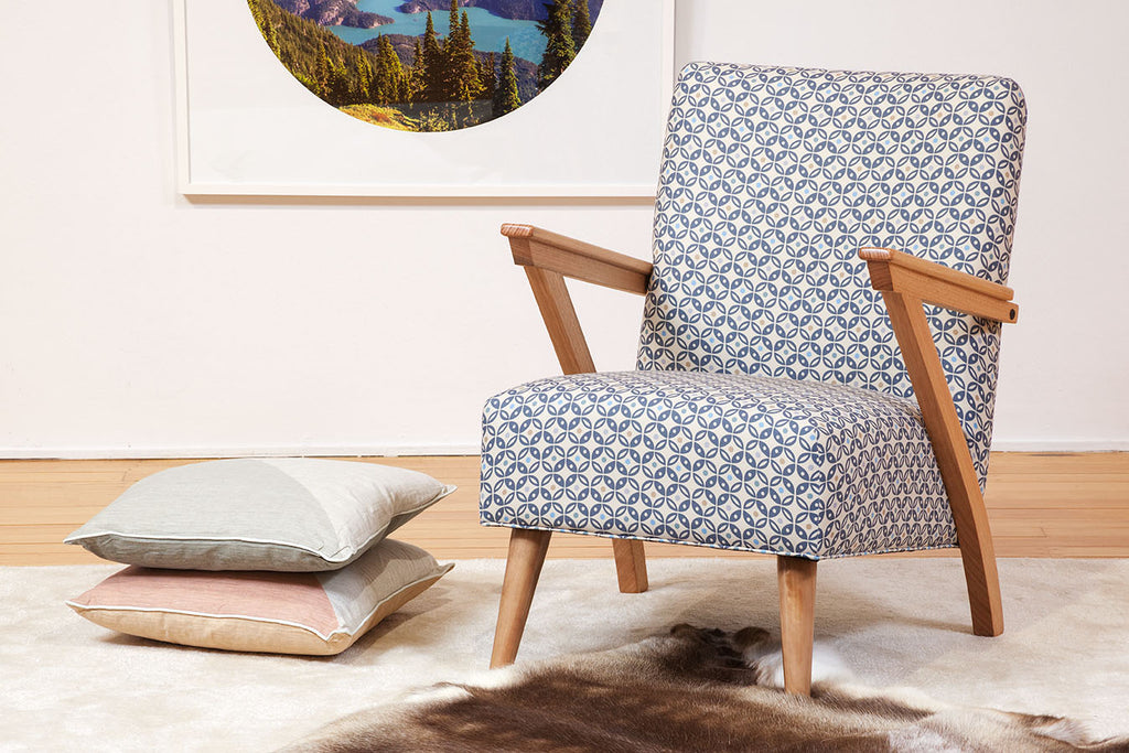 The Zara Timber & Fabric Occasional Chair
