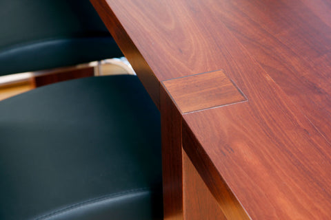 Gallows Contemporary Solid Jarrah Dining Table with EST, Engineered Structural Timber