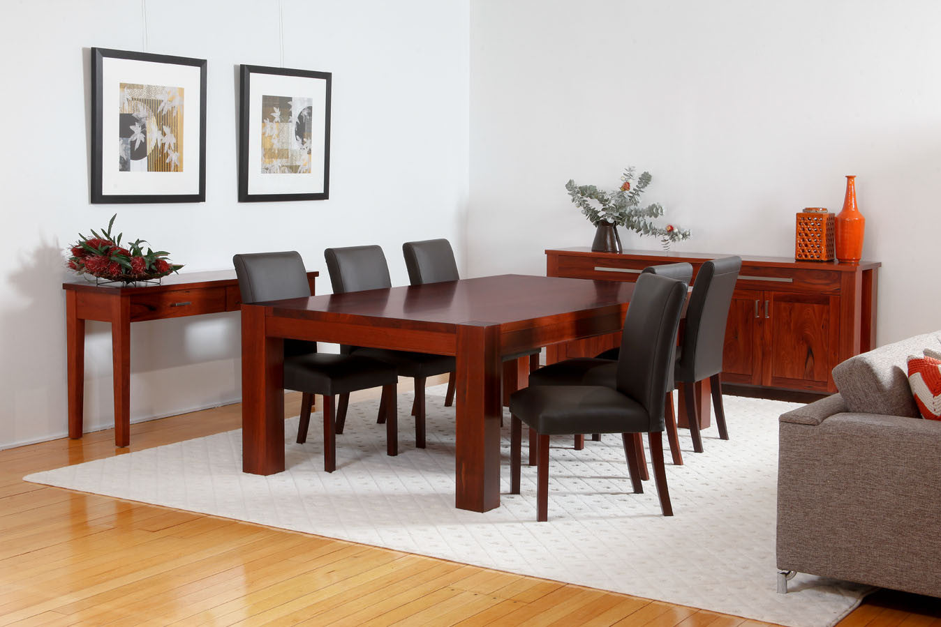 Perth WA The Classic Solid Jarrah Dining Suite Table Buffet