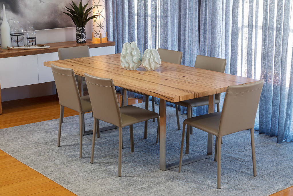 Mondo Dining Table - Stainless Steel Base