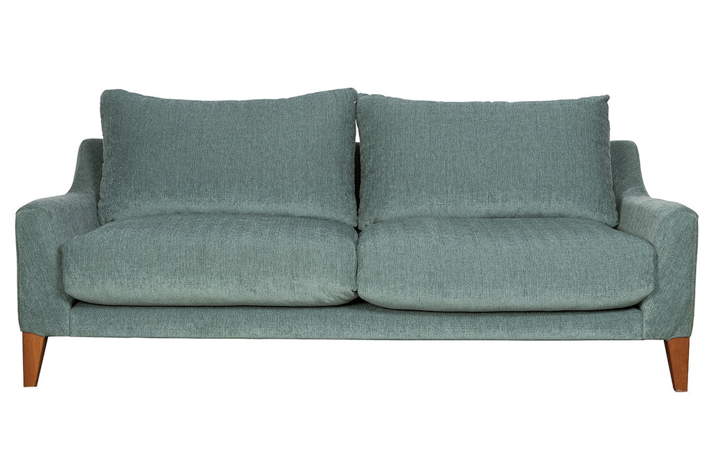 Oscar Comfortable three seater micro fabric over stuffed couch, Perth WA