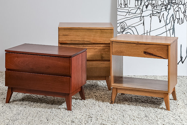 Oslo Jarrah Or Marri Chest Of Bedroom Drawers And Bedsides