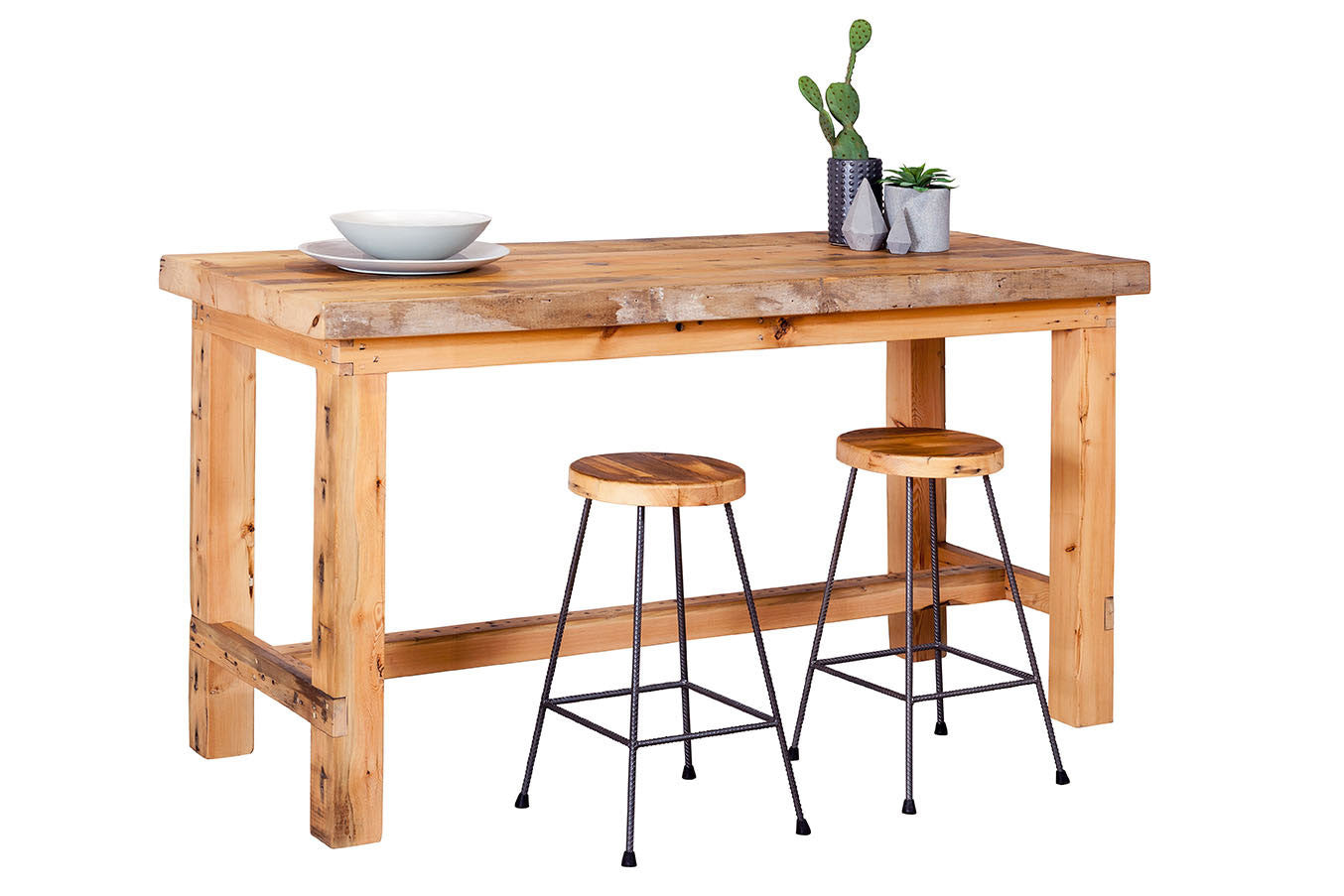 Plaistow Recycled Solid Baltic Timber Bar Table Bespoke