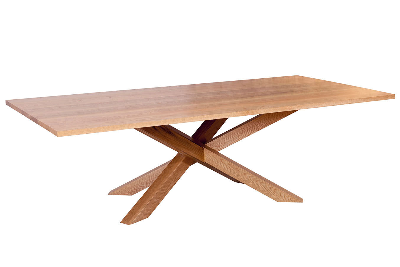 Spinifex Solid American Oak Dining Table With Contemporary Base Design By  Bespoke Furniture Gallery Nedlands Perth ...
