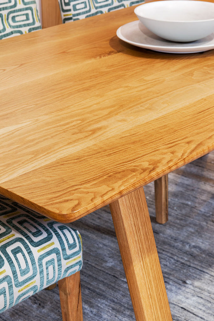 Trestle Solid American Oak Timber Dining Table Detail