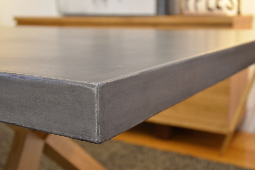 Wichita Dining Table - Concrete/Oak