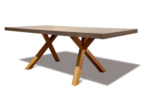 Wichita Dining Table Concrete and Oak