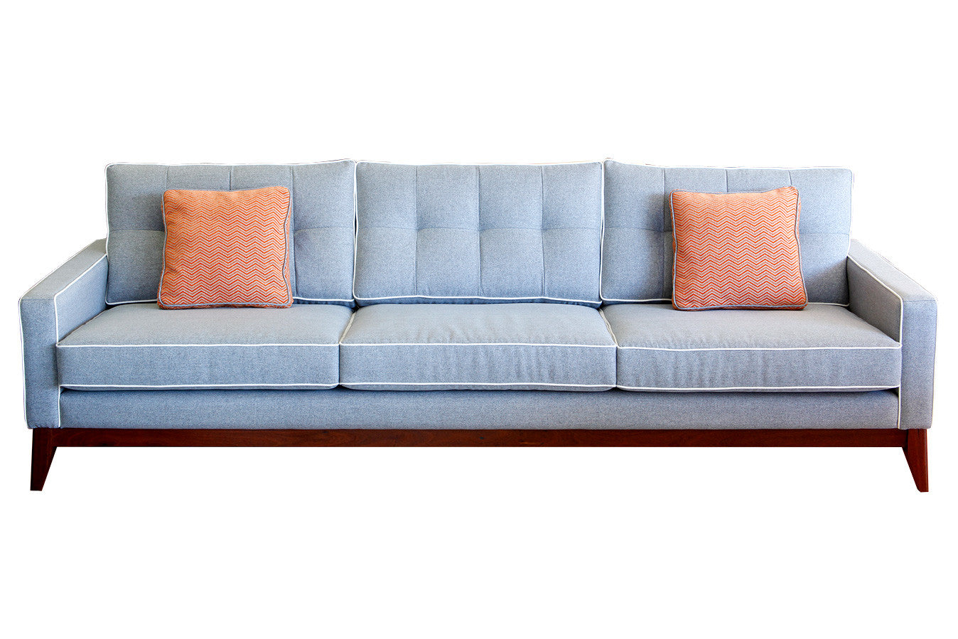 ... The Caz Fifties Sofa With Jarrah Timber Base   Leather Or Fabric   Mad  Men Inspired ...