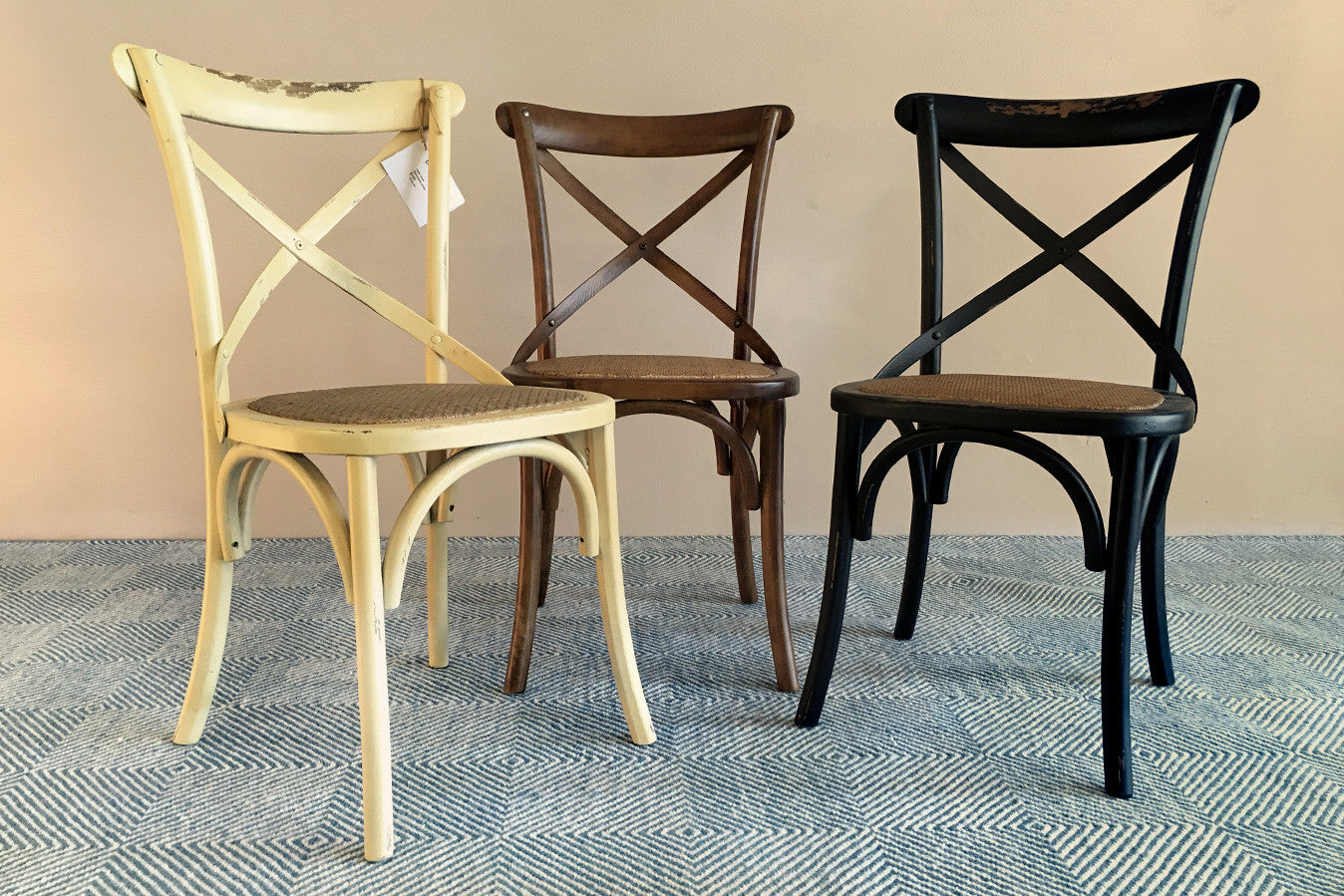 French cafe chairs table - Classic French Caf Style Multi Coloured Dining Chair