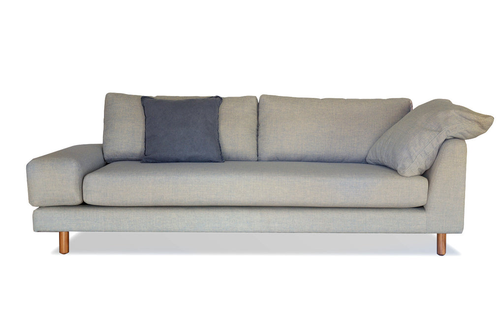 2 Half Seater Fabric Upholstered contemporary couch perth wa chaise lounge