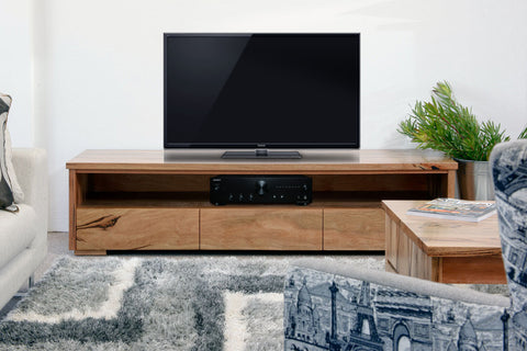 Dwelling marri jarrah timber tv lowline unit