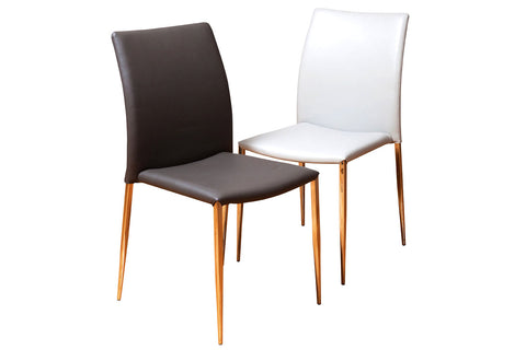 Fully Upholstered Leather Dining Chairs With Steel Base Perth WA