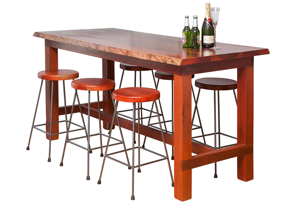 Jarrah Timber Bar Table
