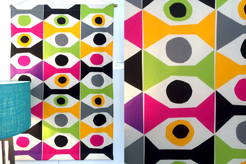 Marimekko Wall Art Canvas Wall Hanging 60s 70s retro Bespoke Perth WA Geometric Colourful Eye Design