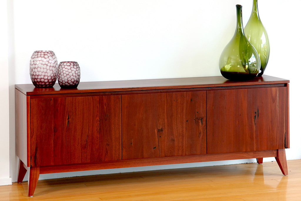 Retro, mid-century Scandinavian design inspired Oslo jarrah or marri dining buffet