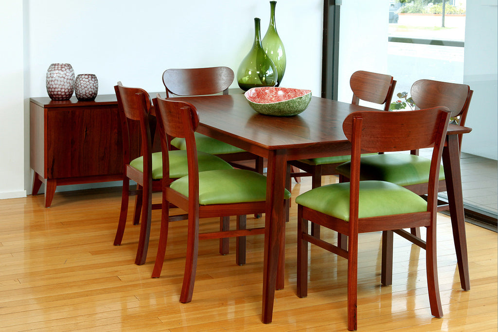 Oslo Danish Design Inspired Jarrah Dining Table and Suite
