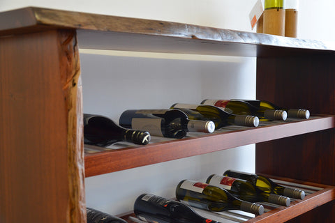 The Prevelly  Marri And Jarrah Natural Edge Wine Rack
