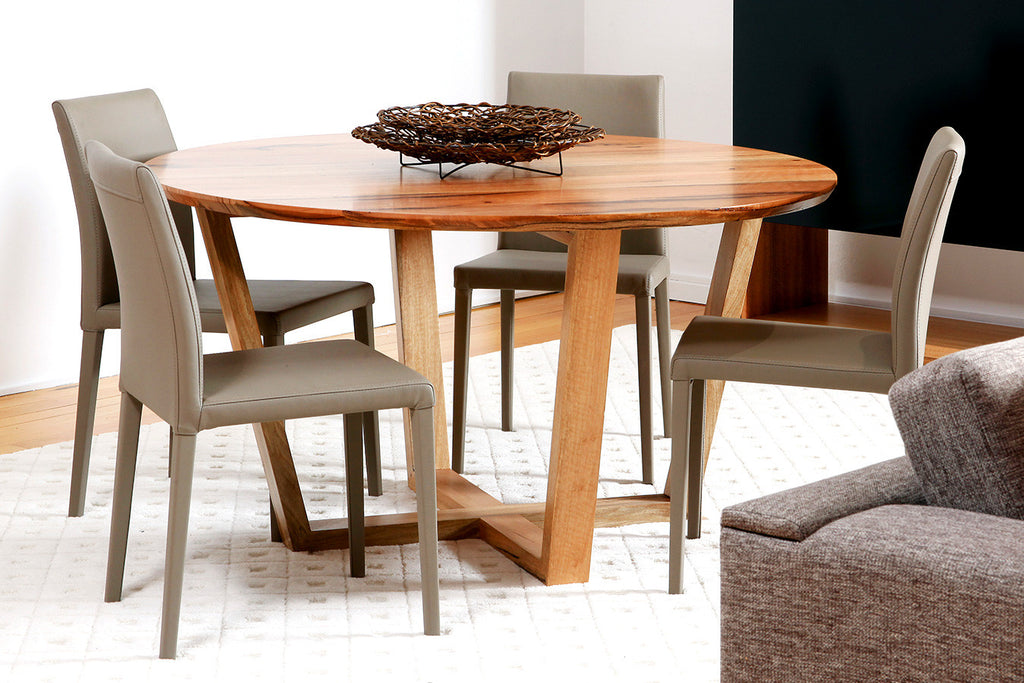 Yallingup Marri or Jarrah Contemporary Round Dining Table Suite, Built in Perth, WA