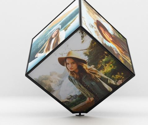 Personalized LED 360 Degree Photo Cube