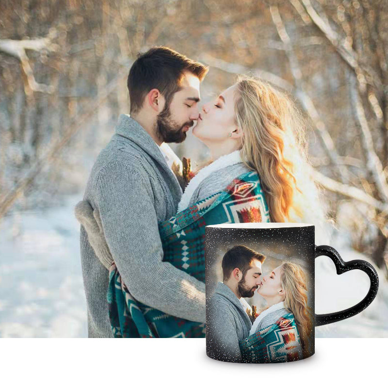Personalized Exotic Mug in Heart-Shaped Handle