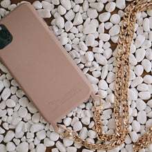 Load image into Gallery viewer, Chained Crossbody Phonecase - Rose Cloud & Flat Metal Chain (iPhone 11 Pro Max & iPhone 7/8)
