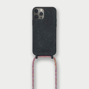 Sustainable Crossbody Phonecase (XS/XR/11 Pro/12 Series) - Black & Mulitcolor