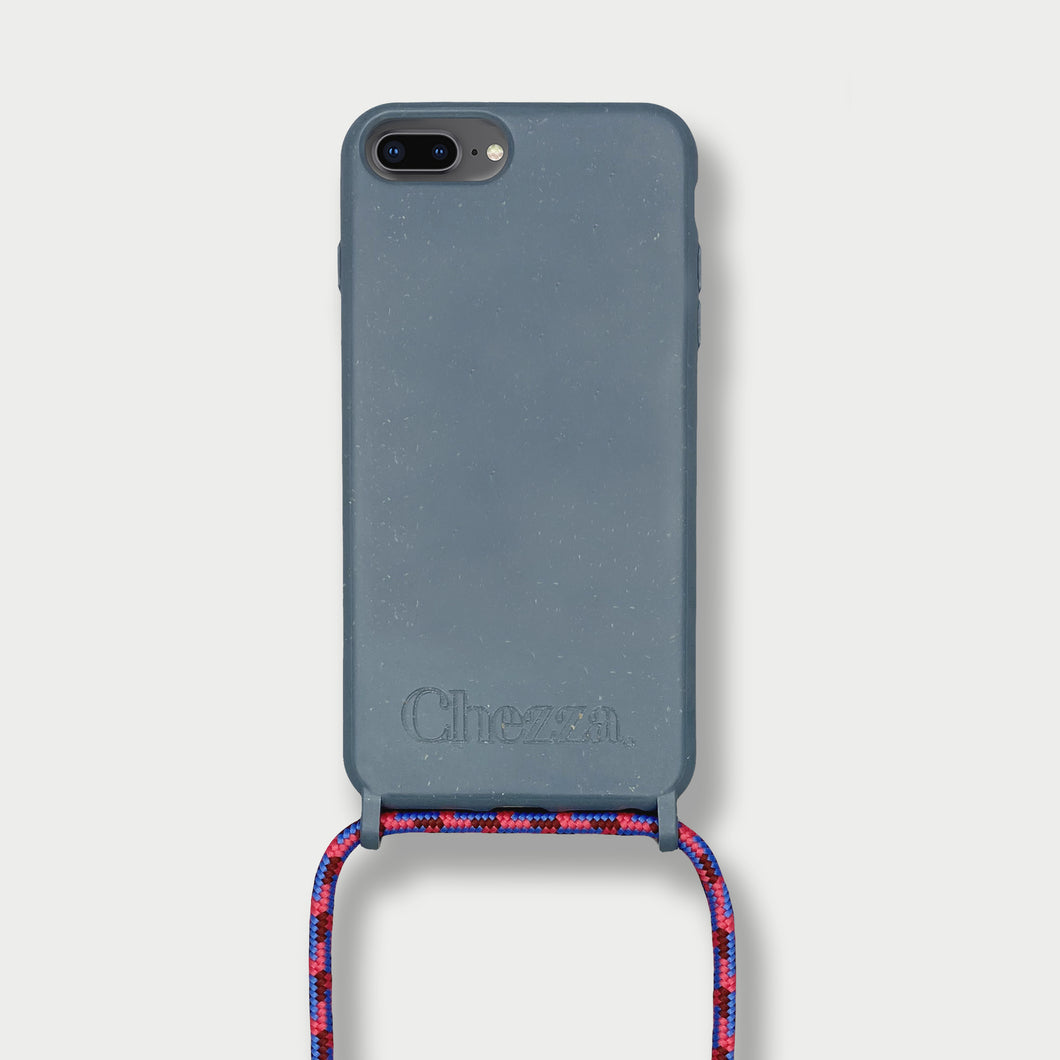 Sustainable Crossbody Phonecase (iPhone 7/8 Plus) - Himalayan Blue