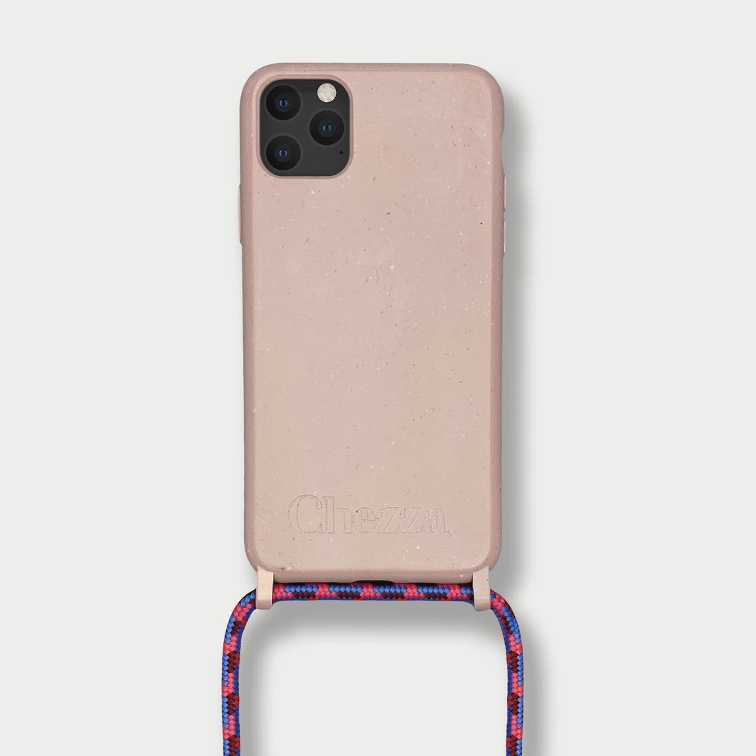 Sustainable Crossbody Phonecase ( 12 Series/ 11 Pro Max/ 7/ 8 ) - Rose Cloud