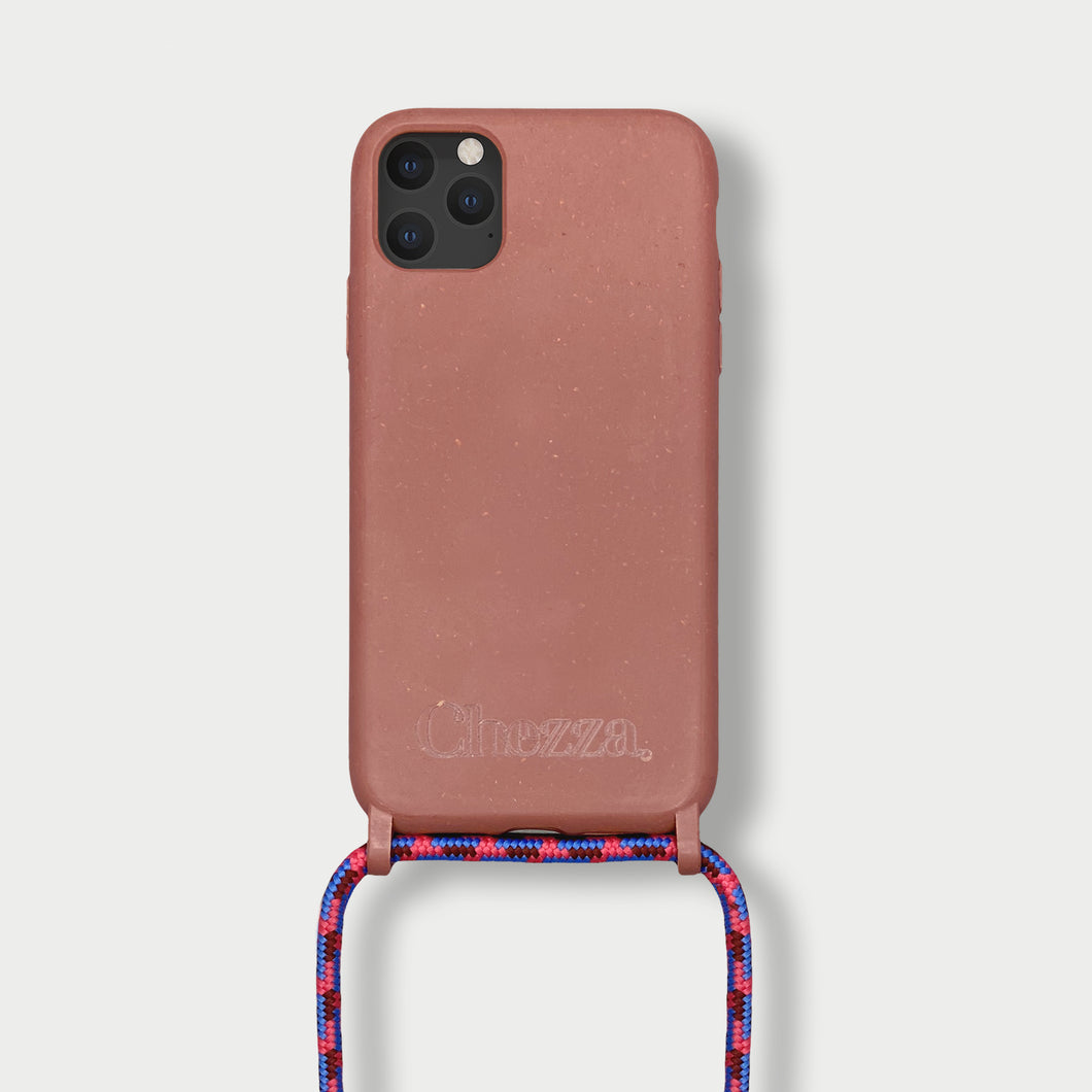 Sustainable Crossbody Phonecase - Strawberry Cloud ( iPhone 11 )