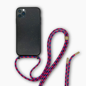 Sustainable Crossbody Phonecase - Granite Black ( iPhone 11 Pro & iPhone XR )
