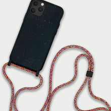 Load image into Gallery viewer, Sustainable Crossbody Phonecase (XS/XR/11 Pro/12 Series) - Black & Mulitcolor