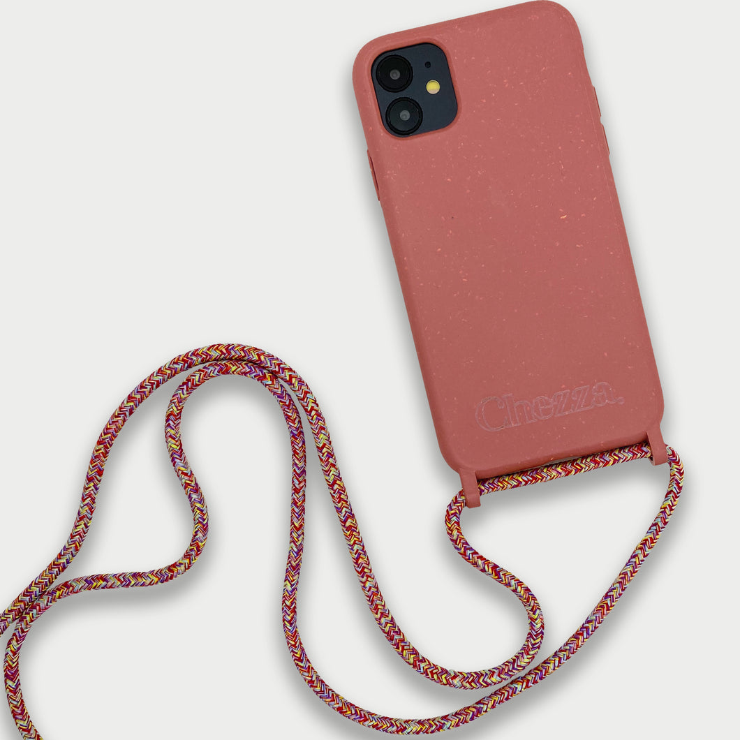 Sustainable Crossbody Phonecase (iPhone 11) - Strawberry & Multicolor