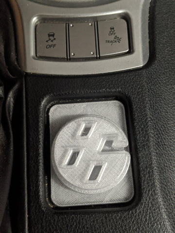 3D Printed Center Console 86 Logo FRS/ BRZ/ 86 - GUMOTORSPORT
