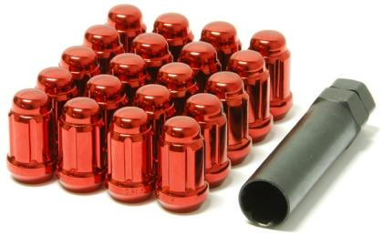 Wheel Mate Muteki Closed End Lug Nuts - Red 12x1.50