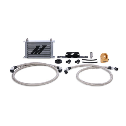 Mishimoto 10-15 Chevrolet Camaro SS Thermostatic Oil Cooler Kit - Silver