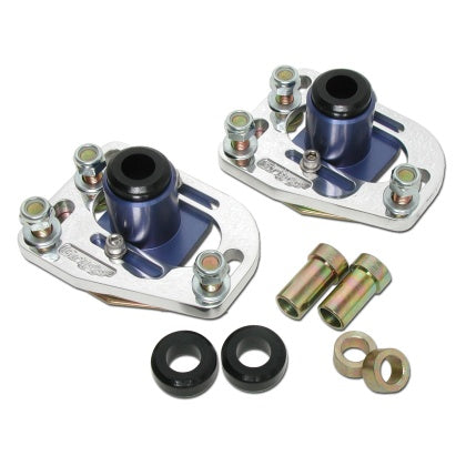 BBK 79-93 Mustang Caster Camber Plate Kit - Silver Anodized Finish